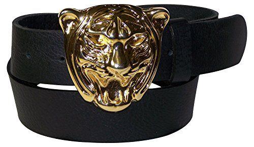 49af868c6b0bee Fronhofer Gürtel Damen 4 cm Tigerkopf Gürtelschnalle Tiger Schnalle gold  Tiger Gürtel 18018 Größe:Bundweite