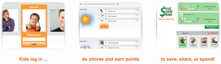 FREE Job Chart for Kids � Learn to Save, Spend and Give