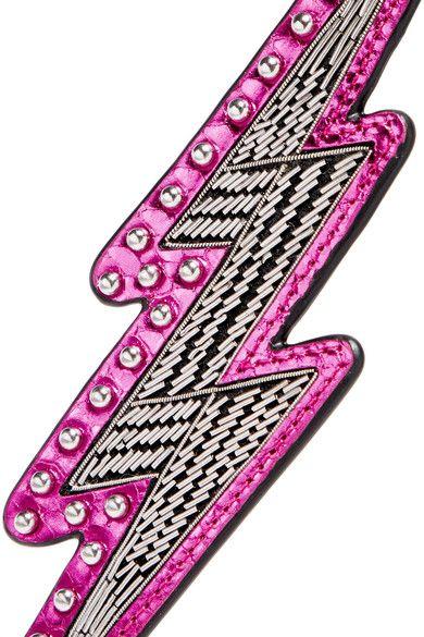 Embellished Metallic Leather Keychain - Pink Marc Jacobs yurxRP