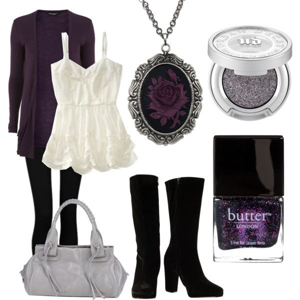 """""""Romantic Goth Chic"""" by ashleyelumina on Polyvore Me on a page."""