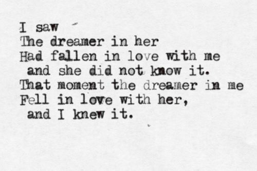 "A quote from the poem ""Dreamers"" by English poet, Ted Hughes (who was married to Sylvia Plath), which is about his mistress, Assia Wevill, Published in the book Birthday Letters in 1998, it was the 1st time he'd written about her in the 30 years since her death. *Thanks for the correction, Cassy"