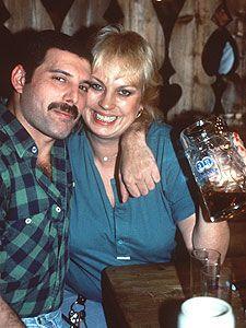 Freddie Mercury and Barbara Valentin