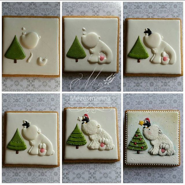 DIY #christmas #bear #cute #lovely #cookies #handmade #handpainted #royalicing…