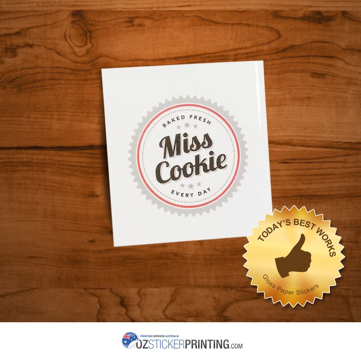 Miss Cookie Gloss Paper Stickers (Circle - 40x40mm) Wanna get your own labels? Request a quote from us now!