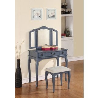 Shop for Betty Vanity Set with Mirror. Get free delivery at Overstock.com - Your Online Furniture Store! Get 5% in rewards with Club O! - 21686775