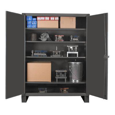 """Durham Manufacturing Extra Heavy Duty Welded 12 Gauge Steel Lockable Storage Cabinet Size: 42"""" H x 36"""" W x 24"""" D"""