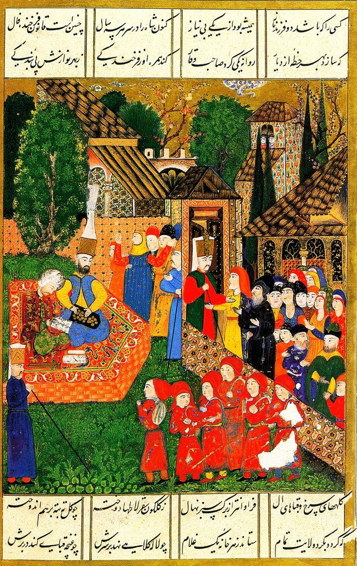 Osmanlı Tarihi: Sultan Süleyman, bir ayak divanında (Süleymannâme)