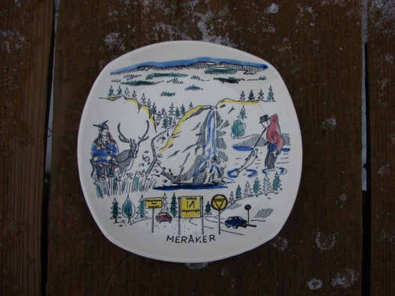 Vintage Stavanger Flint Norway collectible wall Plate by Luckytage