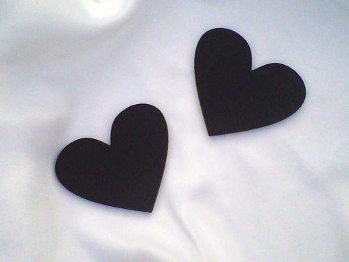 Wedding decoration / favours = Heart Chalkboards