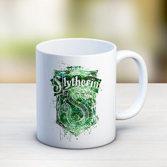 Slytherin Crest Mug Harry Potter Mug Slytherin by InstantGoodVibes