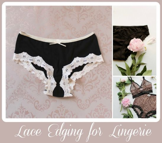 Stretch lace is a great finish for lingerie! This tutorial shows you a few ways to sew stretch lace.There are a couple types of stretch lace trimming you may find in a fabric store - the first kind  has a decorative scalloped edge which gets appliqued to the right side of the garment.  The...