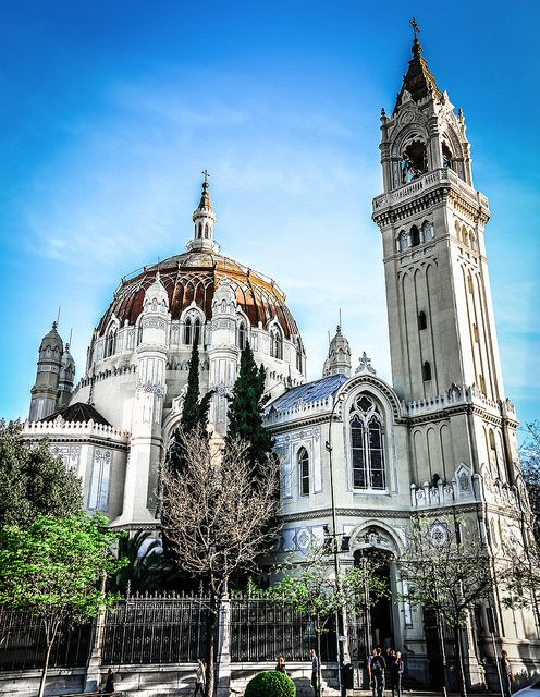 We used to come up from the metro in Madrid right by this gorgeous specimen.  Church of San Manuel y San Benito - Madrid Spain | Flickr - Photo Sharing!