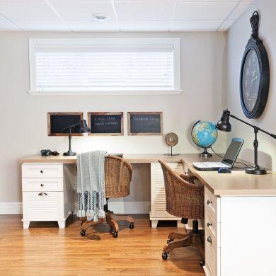 Bureau pour le travail en duo bureau inspirations refuge pour professionnels bureau for Idee decoration bureau professionnel