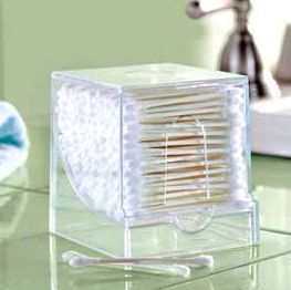 Store your Q-tips in a tooth pick dispenser!