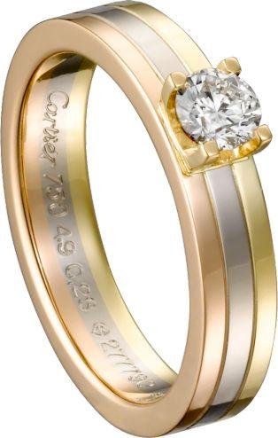 ピンクは愛を、イエローは忠誠を、ホワイトが友情を象徴したリング *エンゲージリング 婚約指輪・カルティエ一覧*