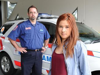 Jason Callanan, pictured with learner Melissa, will run a driver safety program. Picture: JANE OLLERENSHAW N29LE401