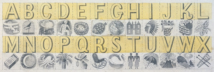 Design for Wedgwood, 'Alphabet' Mug, 1937, watercolour on paper - Eric Ravilious