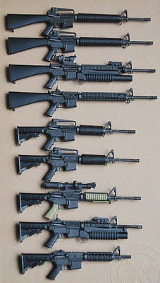 AR's and carbines