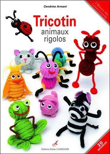 Livre tricotin animaux rigolos