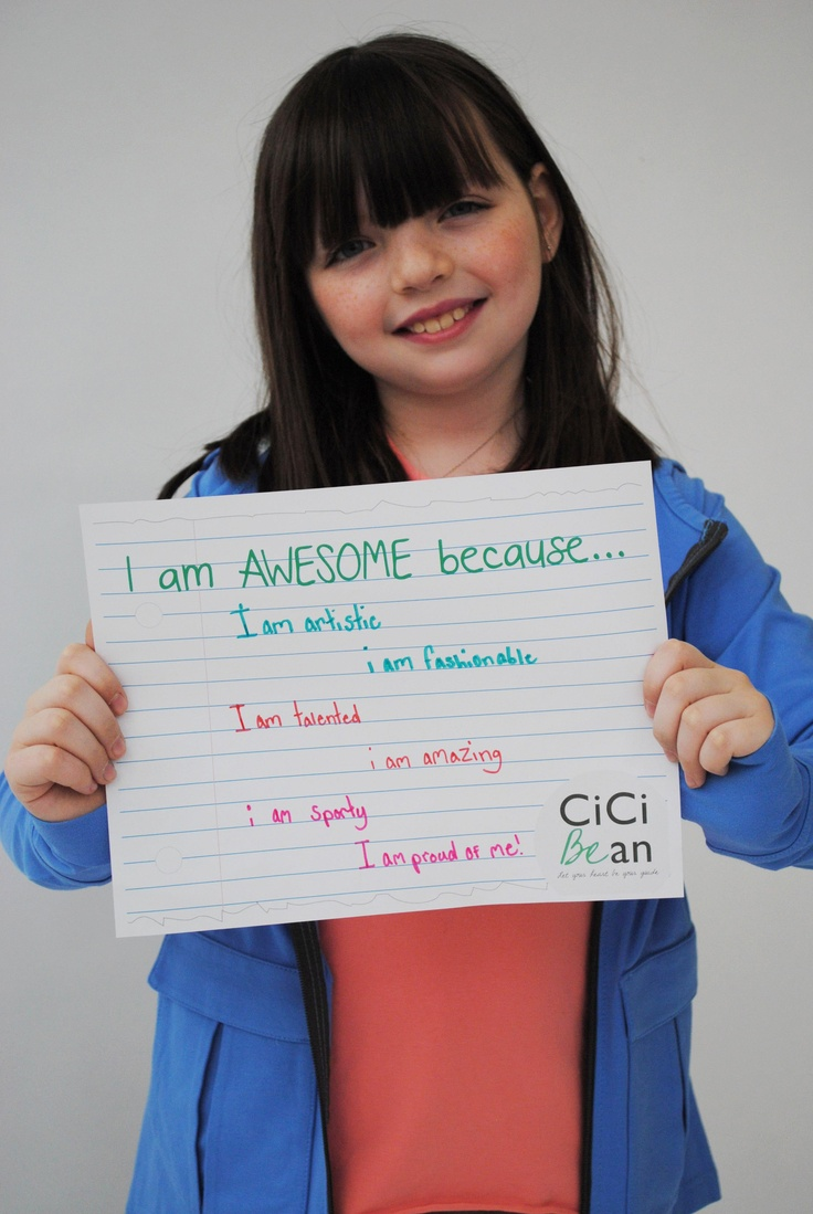 What makes you awesome? Get your free printable from the CiCi Bean blog (http://letyourheartbeyourguide.blogspot.ca/2013/02/i-am-awesome-because.html).