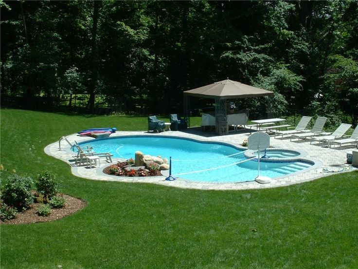 Freeform Pool with Spa and Waterfall Aqua-Pro Swimming Pool Gallery - check out our pools, waterfalls, spas and freeform stone pools. Aqua-Pro, Inc. Swimming Pools Ossining, NY (914) 923-9500