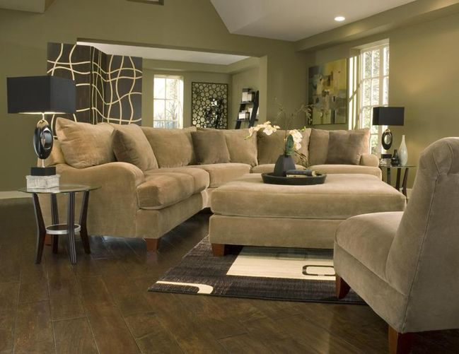 Tan Walls Sectional Sofa
