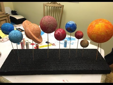 How to make a model solar system |  Hobbycraft  step y step - YouTube