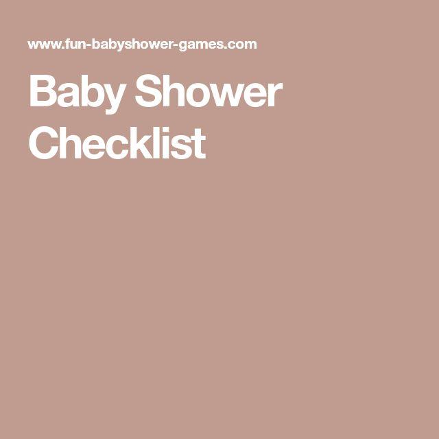 The 25+ best Baby shower checklist ideas on Pinterest Baby showe - sample baby shower checklist