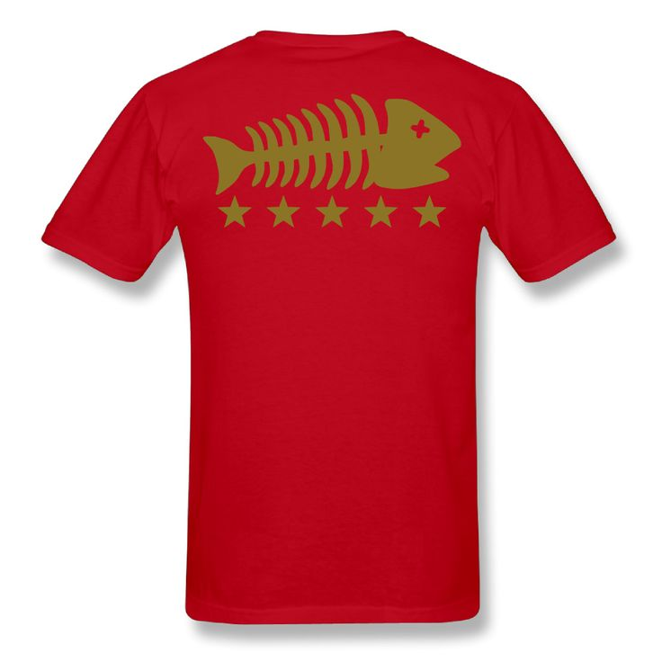 Fishing Fishbone boys hip hop customised t shirts short sleeve 100% cotton man o neck tops #Affiliate