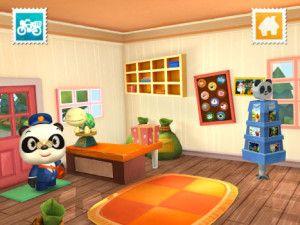 leuke app van dr. Panda voor kinderen over de postbode. Leuk bij thema beroepen.