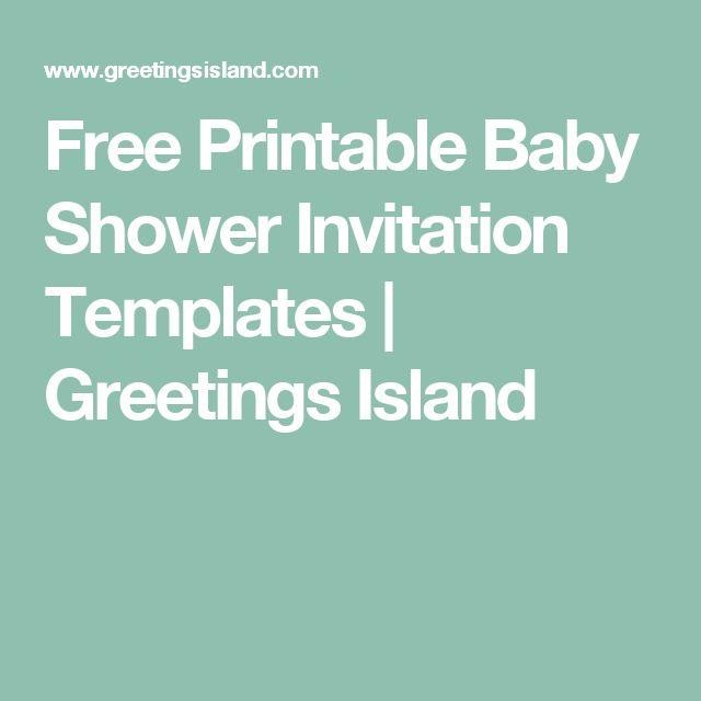 Free Printable Baby Shower Invitation Templates | Greetings Island