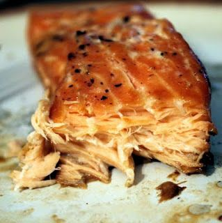 This is my favorite Salmon recipe. Soy sauce and maple syrup (or honey if you prefer), and salt/pepper. I like to add Siracha and ground ginger for a burst of flavor. So simple and so tasty!