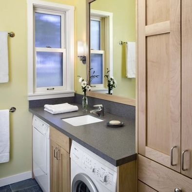 Bathroom With Laundry Design, Pictures, Remodel, Decor and Ideas