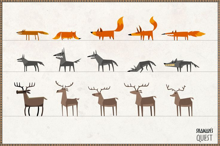 #character #concept #animation #fox #wolf #deer
