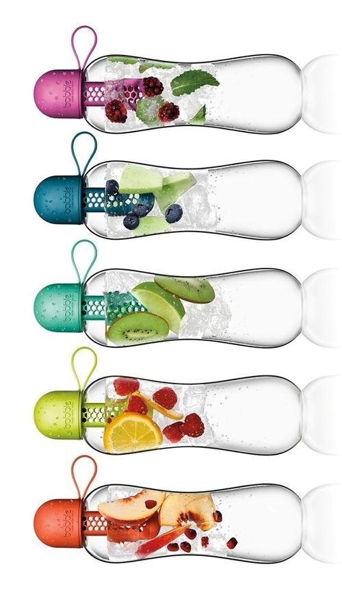 Staying hydrated and healthy with these cute and colorful water bottles that double as both a filtered hydrator and a fruit infuser.