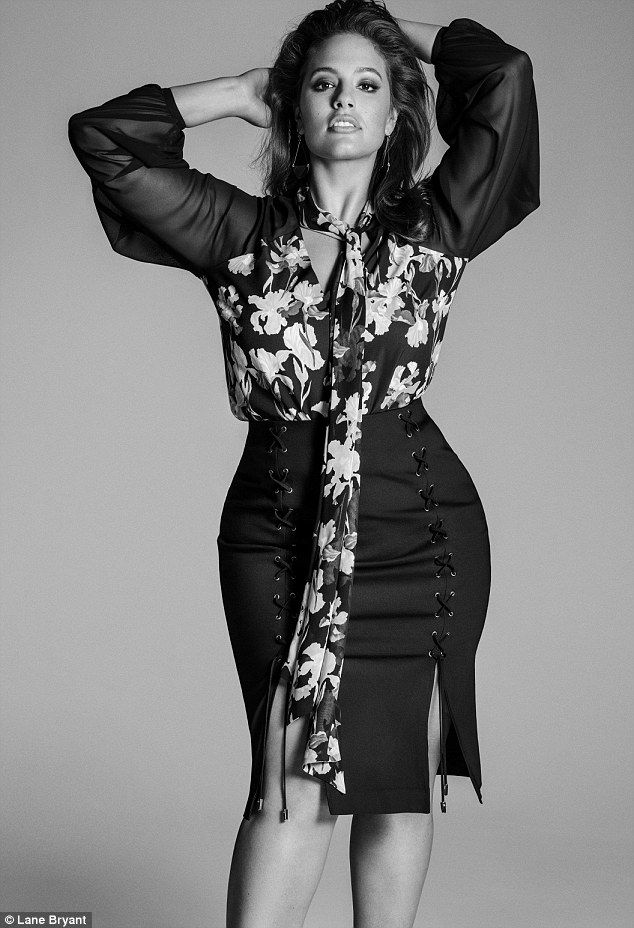 Curvy muse! Ashley Graham models Prabal Gurung's new limited-edition plus-size collection for Lane Bryant - which was inspired by her body