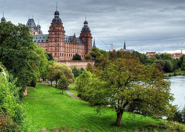 Schloss Johannisburg, Aschaffenburg, Bavaria, Germany. Used to layout when there was sunshine here lol
