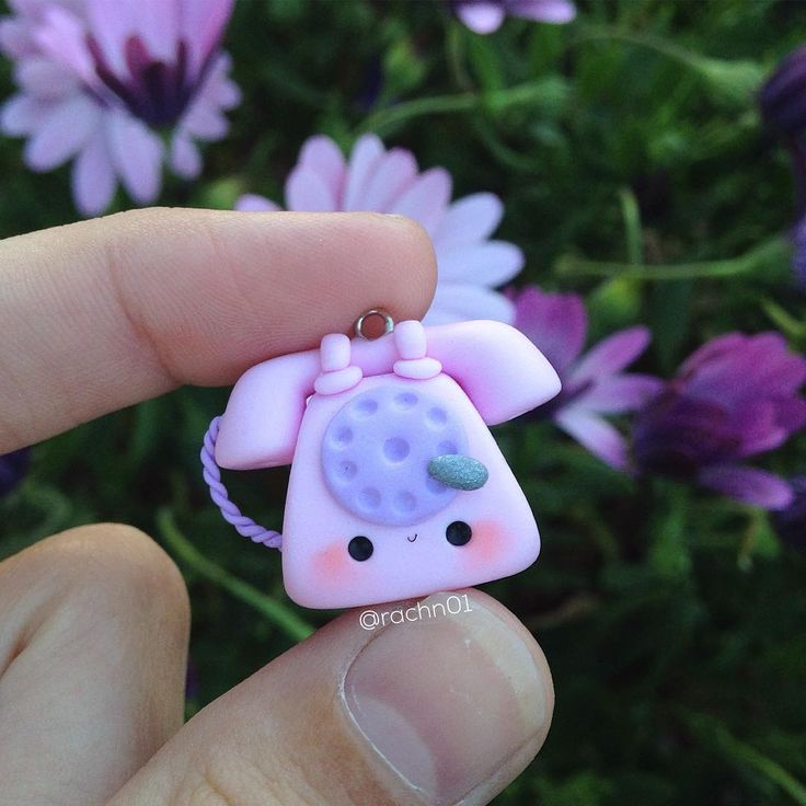 #kawaii #charms #polymer #clay #telephone