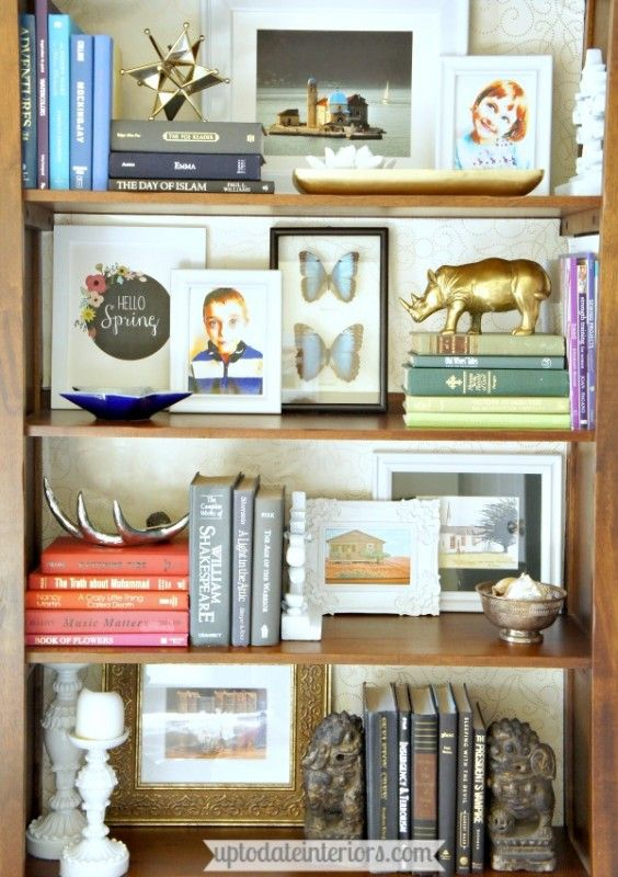 Styling a bookcase. I feel like I would need to own fewer books in order to achieve this look. Or just more bookcases... Yeah. Definitely more bookcases.