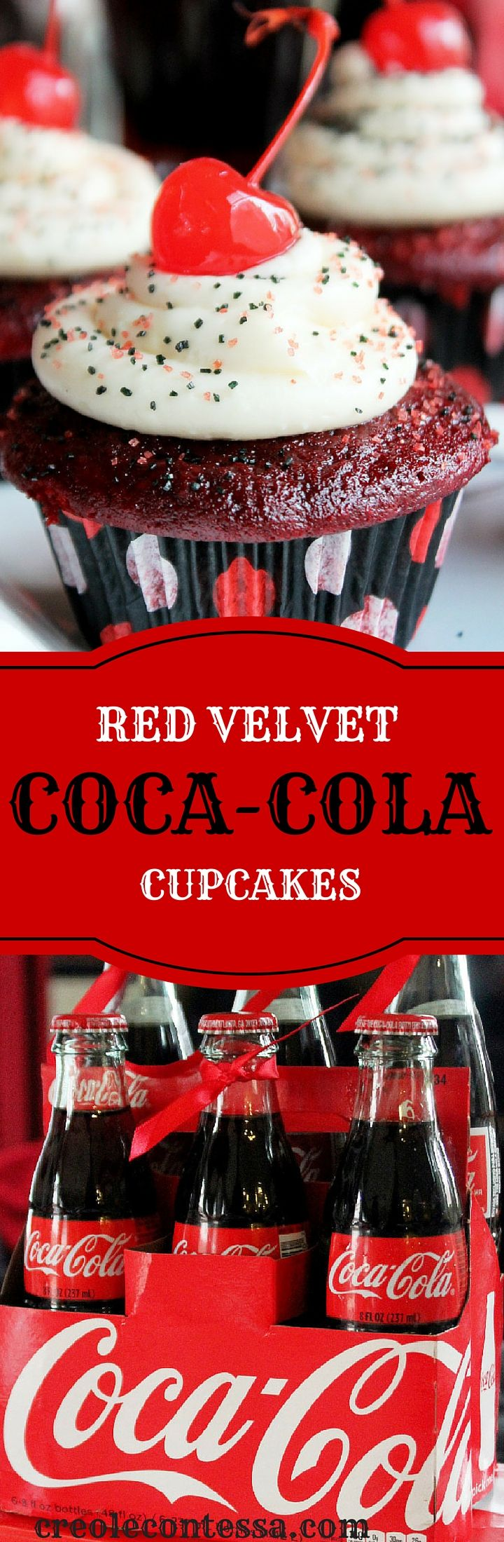 Coca-Cola Red Velvet Cupcakes-Creole Contessa Win a $400 Prize Pack Giveaway! #HomeBowlHeroContest