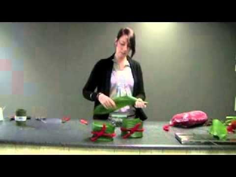 DIY bloemschikken tulpen in glas, Frühlings Deko im glas, flower arrangement in glass DekoideenLand - YouTube