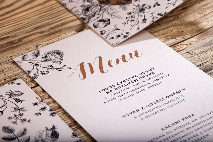 Svatební menu / Wedding menu