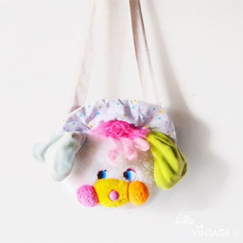 Sac à main Popples vintage  - Hello Vintage Shop - Meubles, objets, decoration, mode, jouets vintage et (re) - creations pour petits et grands enfants - www.hellovintage.fr