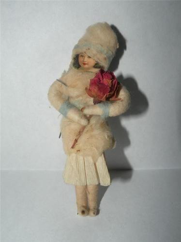 Antique Victorian Spun Cotton Christmas Ornament | eBay