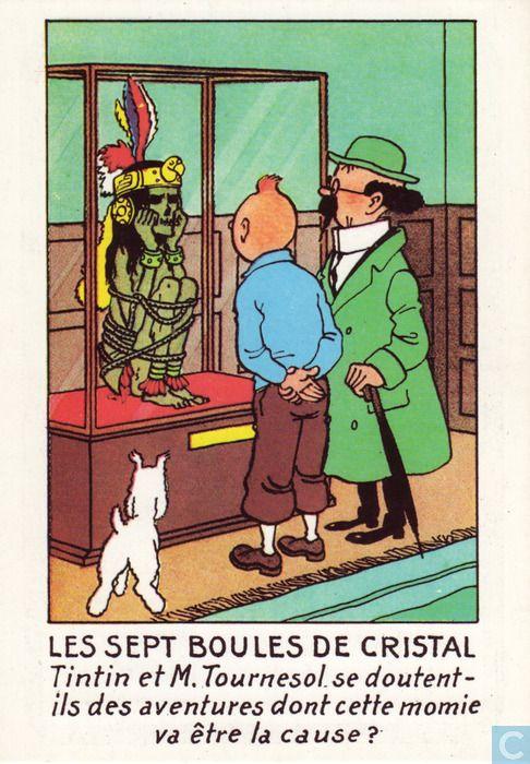 Carte postale - Tintin - Les sept boules de cristal