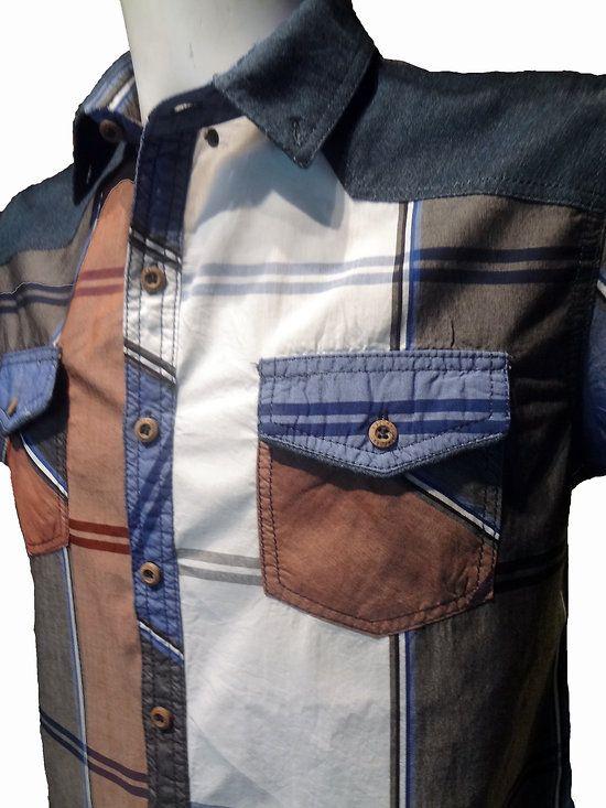 Chemise en jean sans manche pour homme