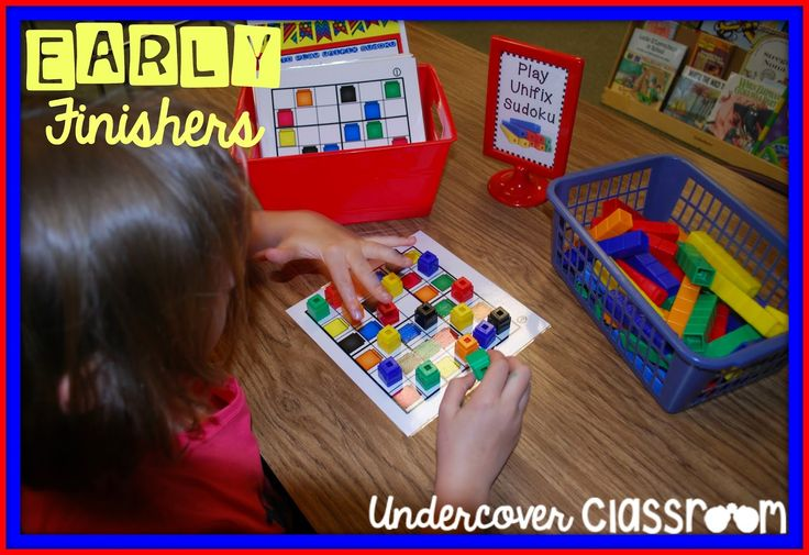 If you have Unifix cubes in your classroom, this is the perfect solution for kids who finish up early!