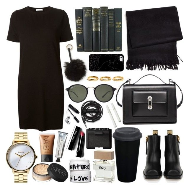 Untitled #146 by carolina-clemente on Polyvore featuring 321, Giuseppe Zanotti, Balenciaga, Nixon, Estelle Dévé, Nila Anthony, Ray-Ban, Casetify, NARS Cosmetics and Bobbi Brown Cosmetics