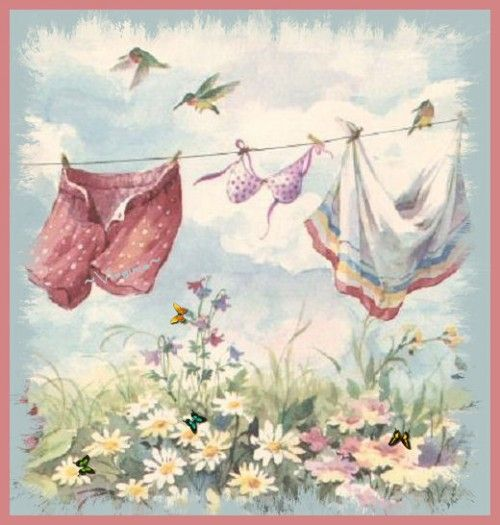 .I love to add some artwork in my laundry room. It just brightens your day while doing your chores.