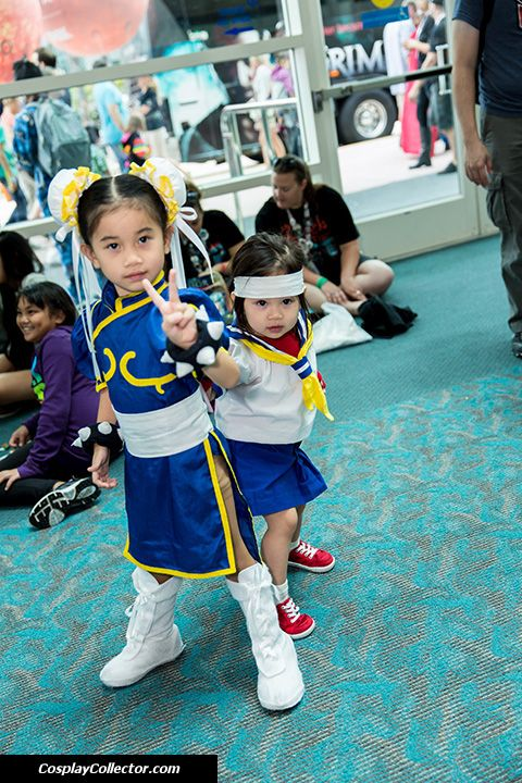 Chun-Li and Sakura Kasugano - San Diego Comic-Con 2013 Sorry kids, no Street Fighter 5 for you till 2018!